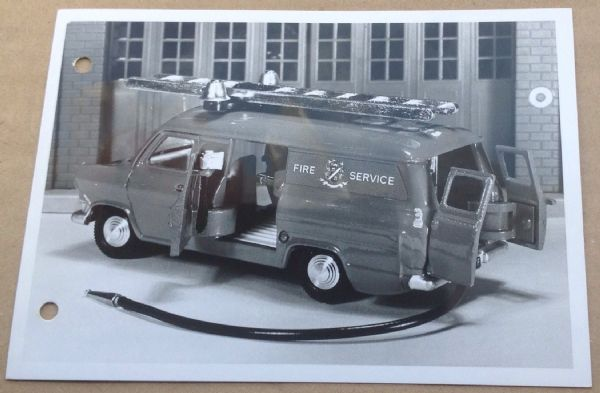 "Dinky Toys Liverpool original Press Photograph and 1 page letter 30/10/1968 introducing Dinky 286 ""Transit Fire Appliance"""